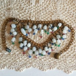 1940s Glass Bead Necklace